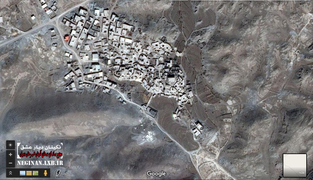 تصاویر ماهوارهای از روستای نگینان